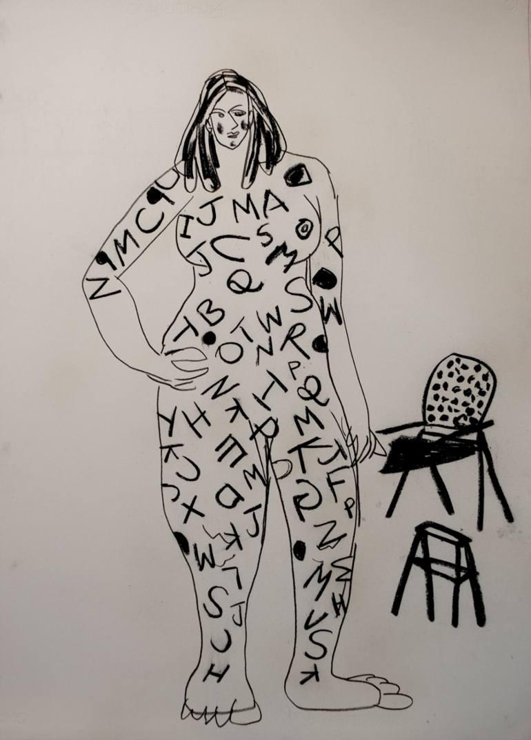 770x1072 Saatchi Art Word Robe Drawing By Srinivas Bobbili