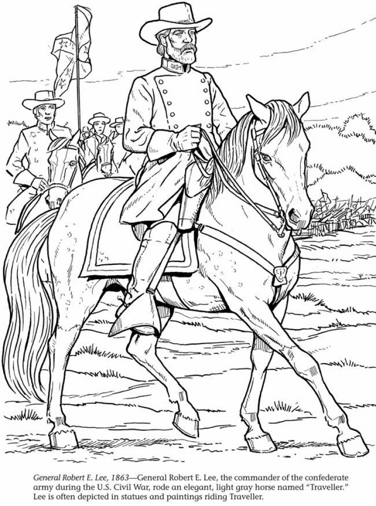 760x1024 Robert E Lee Coloring Page Robert E Lee Coloring Page General Lee