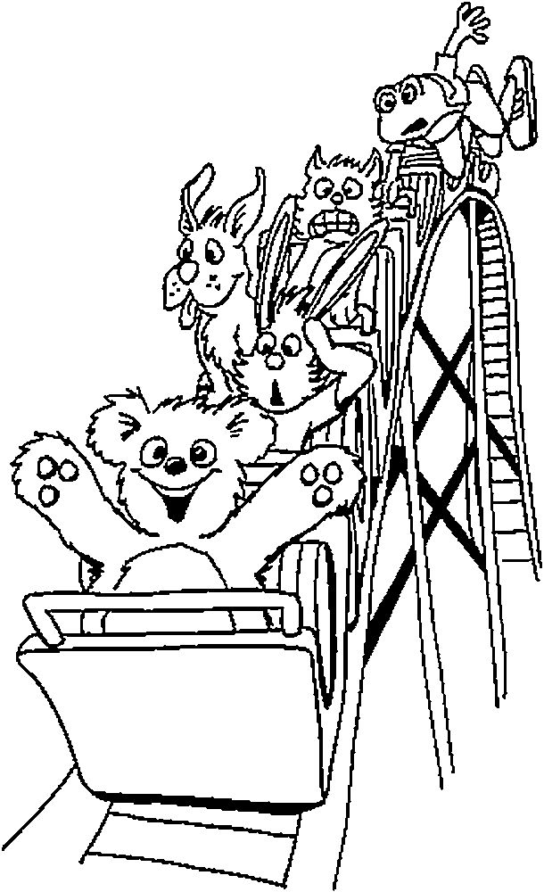 Roller Coaster Cart Drawing