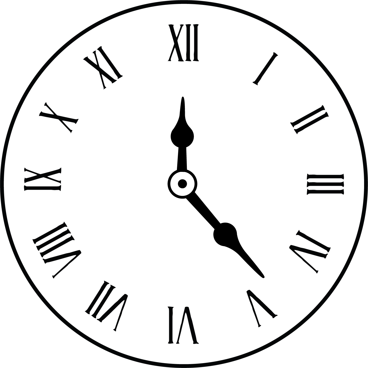 Roman Numeral Clock Drawing At Getdrawings Free Download