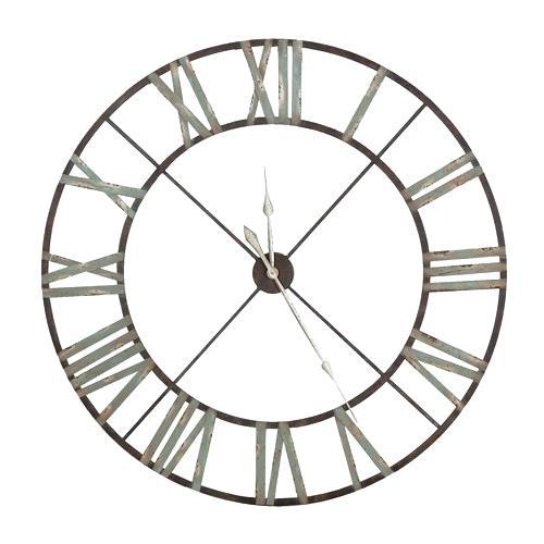 500x500 Roman Numeral Clock Large Iron Wall Clock Roman Numerals Roman