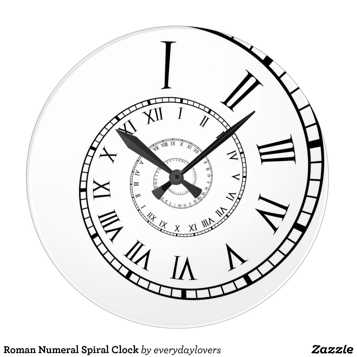 1458x1458 Roman Numeral Spiral Clock Spiral, Clocks And Tattoo