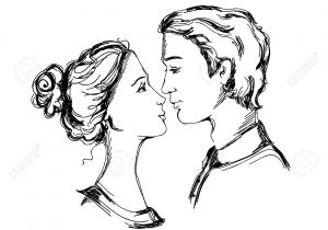300x210 Outline Sketch Of Romantic Love Couples Ideas About Sketches