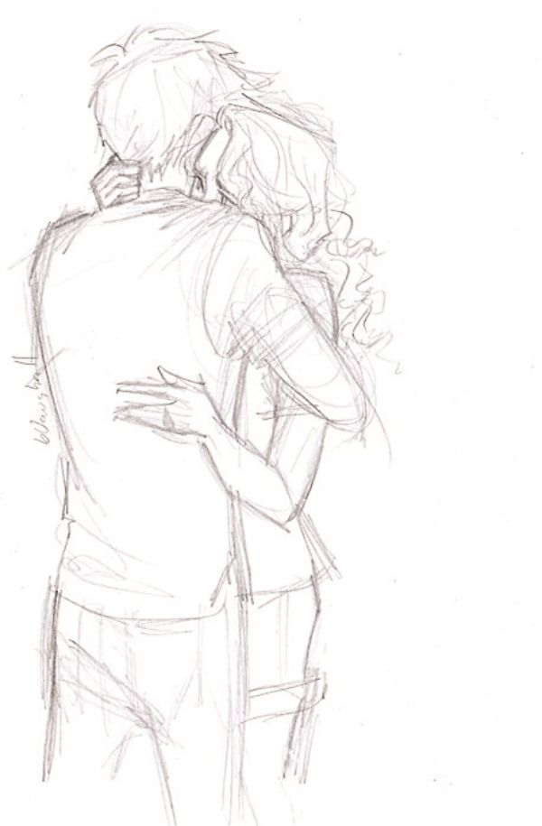 600x915 40 Romantic Couple Pencil Sketches And Drawings