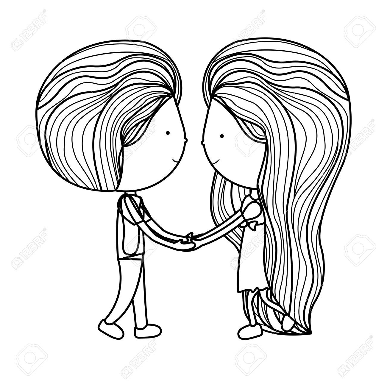 1300x1300 Romantic Couple Cartoon Drawing Images Girl And Boy Cartoon Icon