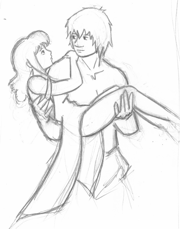 617x786 Romantic Couple Drawing Sketch