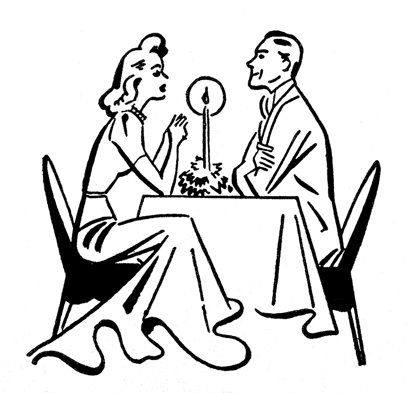 1402x1350 How To Draw A Couple Eating A Romantic Dinner Clipart Easy