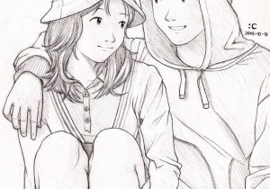 300x210 Best Love Romantic Couple Sketch Pics