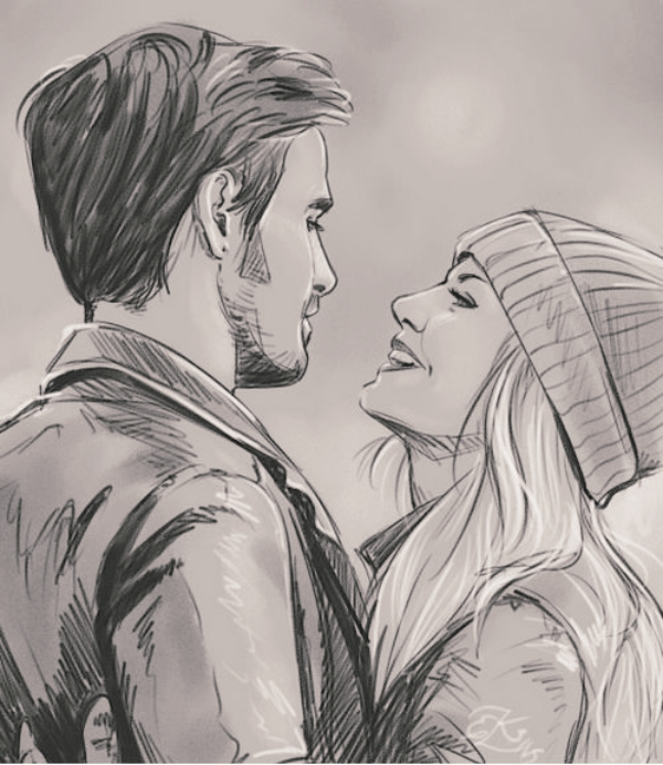 600x692 40 Romantic Couple Pencil Sketches And Drawings