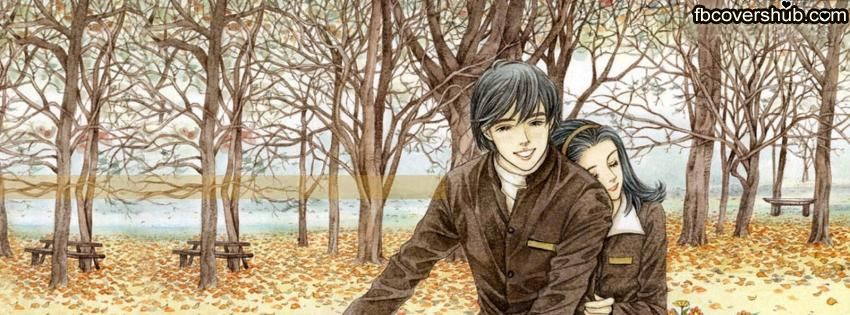 850x315 Download Romantic Couple On Bicycle Drawing Fb Cover Facebook