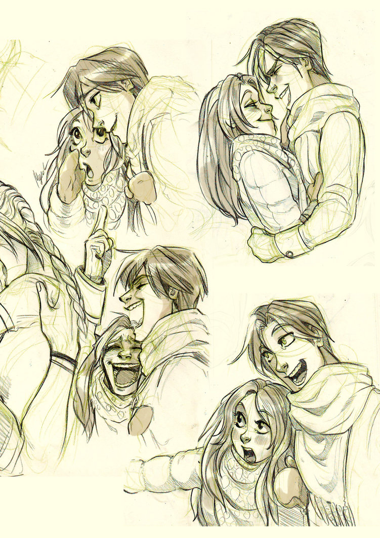 751x1063 Romantic Sketches By Myed89