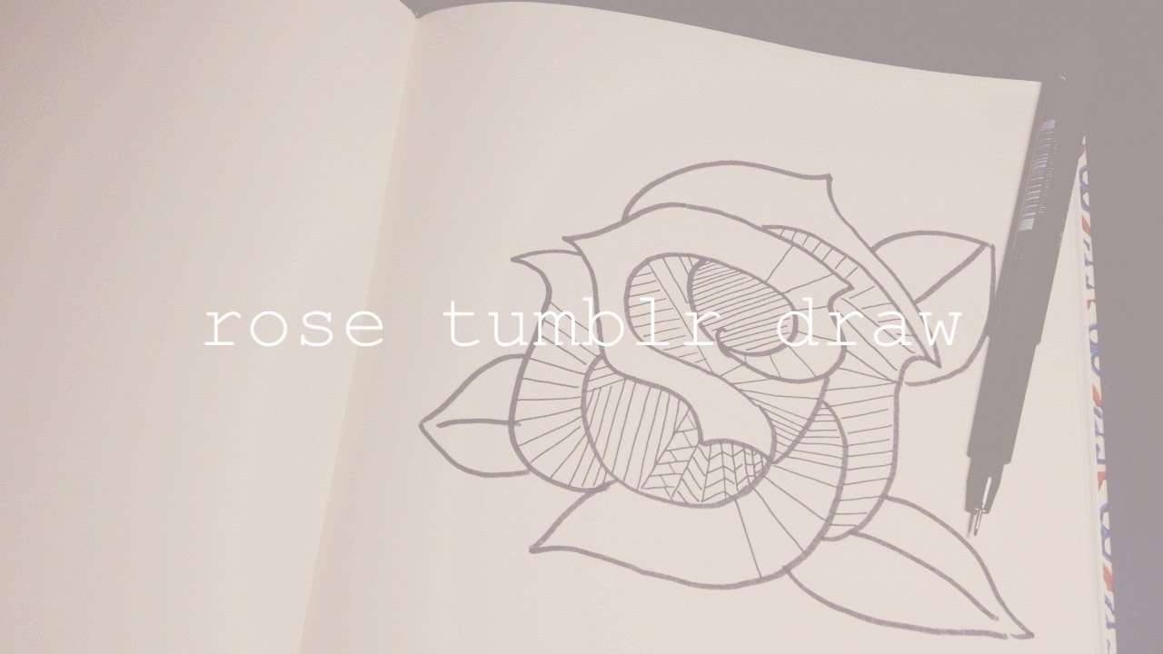 1280x720 How To Draw A Rose Tumblr I Easy Drawing Starting From An S