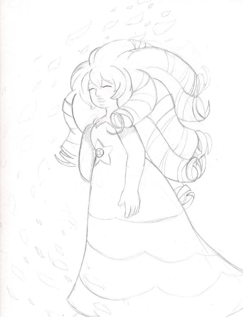 783x1020 Rose Quartz Drawing By Proxamina