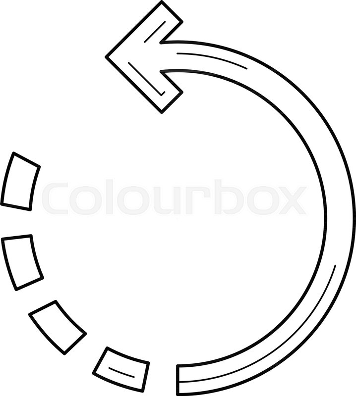 718x800 Rotate Image Vector Line Icon Isolated On White Background. Rotate