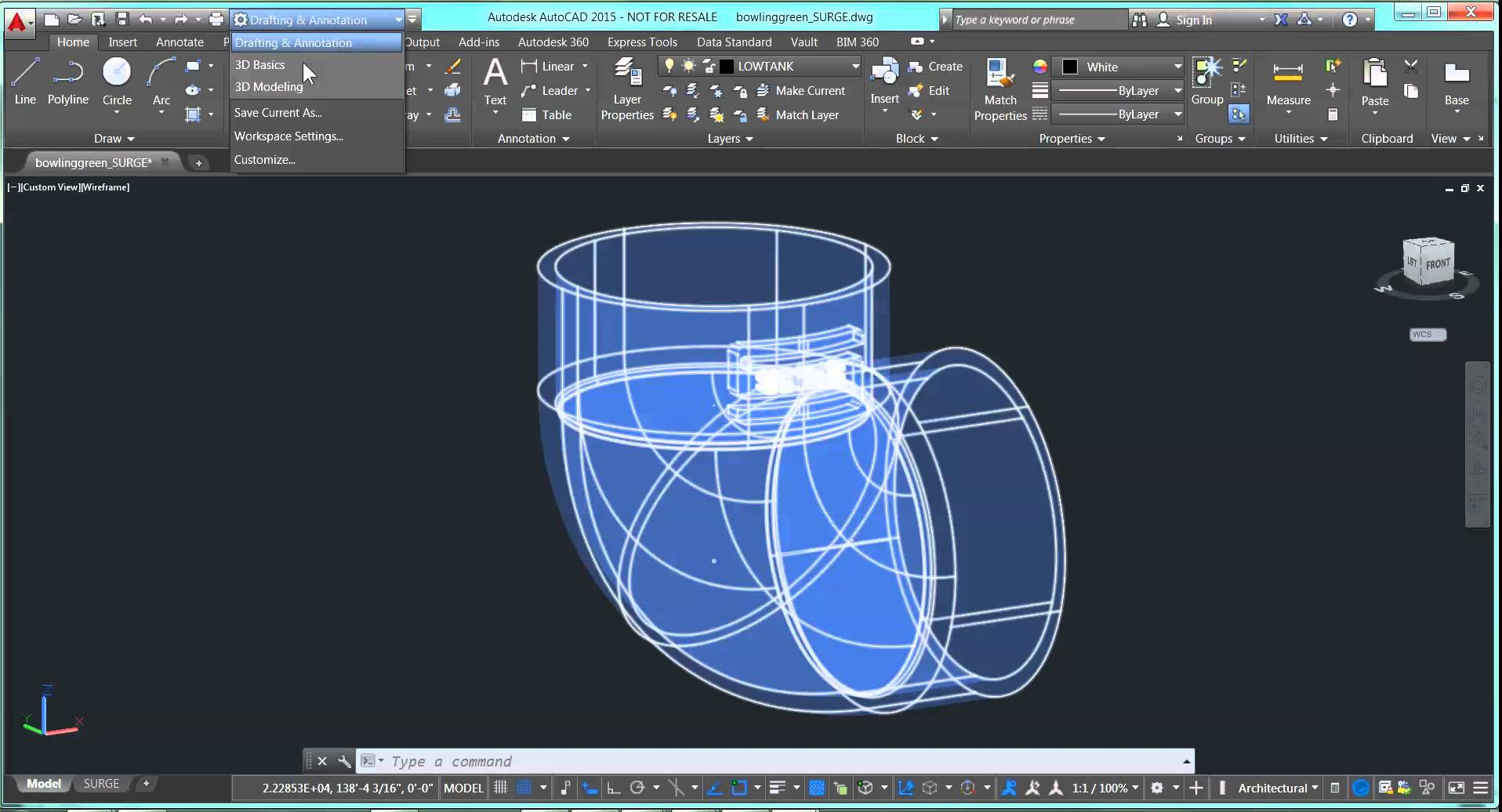 1916x1036 Rotate A Part In Autocad 3d