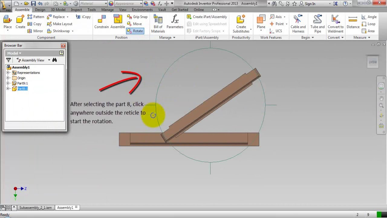 1280x720 Rotating And Placing Components In An Assembly (Video Tutorial