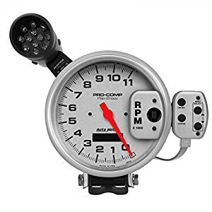 300x300 Auto Meter 6834 Pro Stock Silver Tachometer Automotive