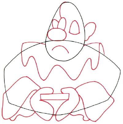 Sad Clown Drawing