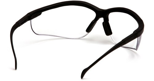 500x264 Pyramex Venture 2 Safety Glasses Black Frame Clear Lens