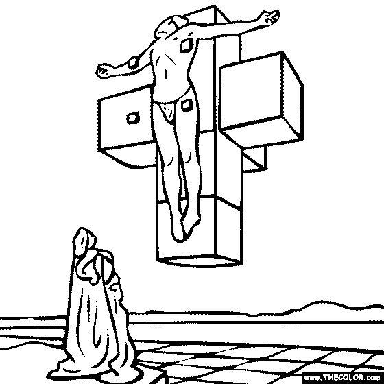 Salvador Dali Drawing On Checks