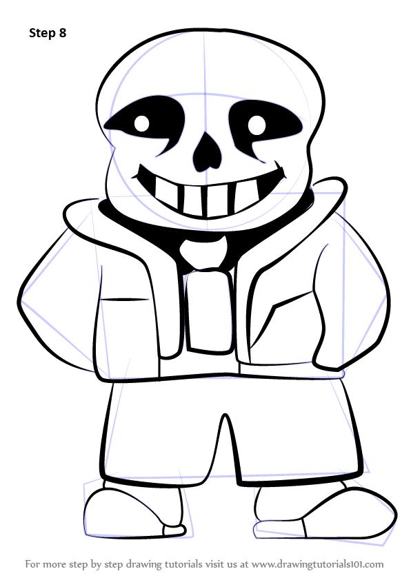 sans the skeleton drawing at getdrawings free