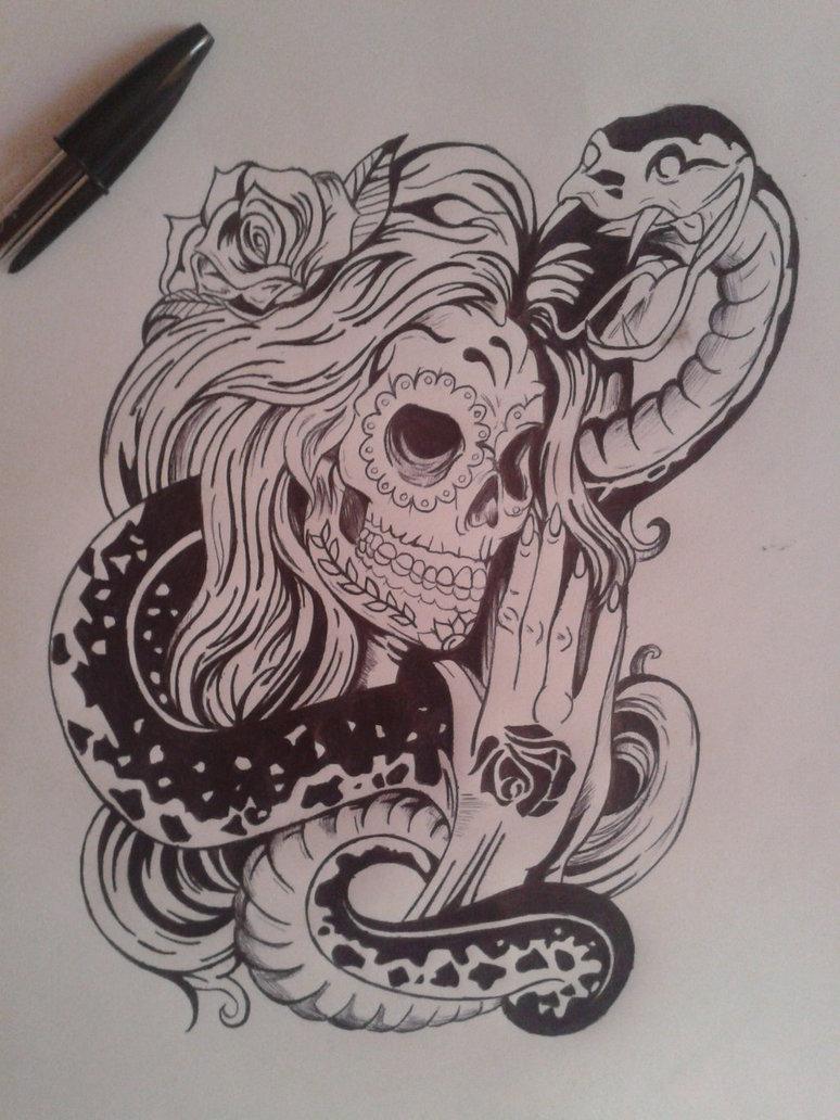 Santa Muerte Drawing at GetDrawings com | Free for personal