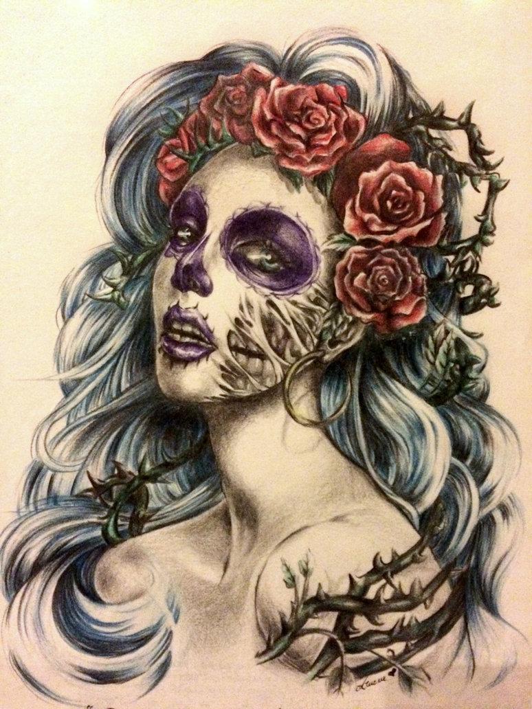 Santa Muerte Tattoo Drawing At Getdrawings Com Free For Personal