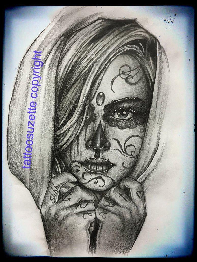 Santa Muerte Tattoo Drawing At Getdrawings Free Download