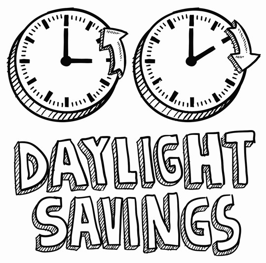539x534 Doodle Style Of Daylight Savings Time Including Clocks Moving