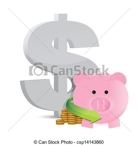 449x470 Dollar Savings Profits Illustration Design Over A White Background.