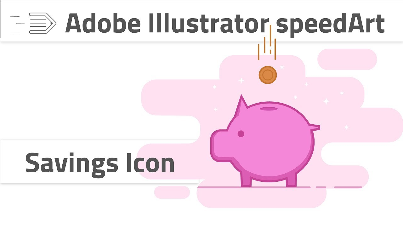1280x720 Drawing Savings Icon In Adobe Illustrator Cc Piggy Bank Icon
