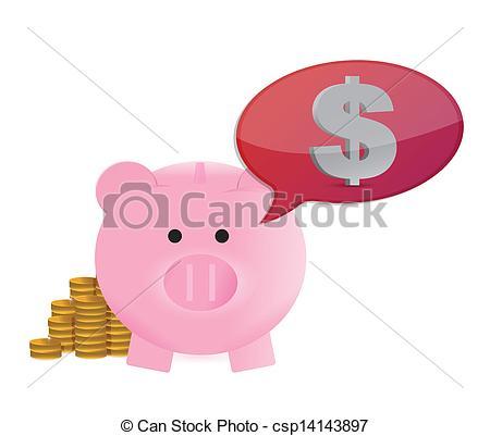 450x401 Money On My Mind Great Savings Concept Illustration Design Over