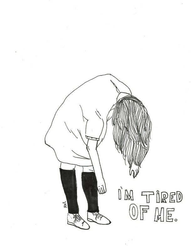 610x784 Pictures Anxiety Depression Drawings Tumblr,