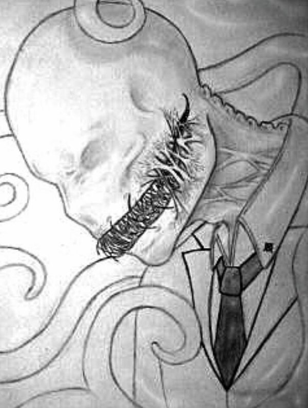 600x796 Collection Of Slender Man Drawing Creepy High Quality, Free