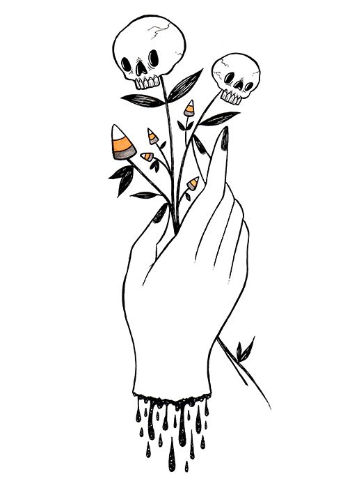 516x700 Collection Of Tumblr Halloween Drawing Ideas High Quality