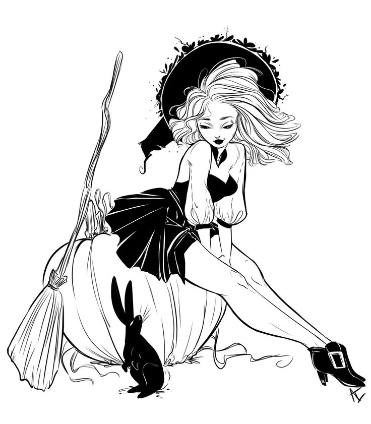 736x841 Collection Of Witch Drawing Tumblr High Quality, Free