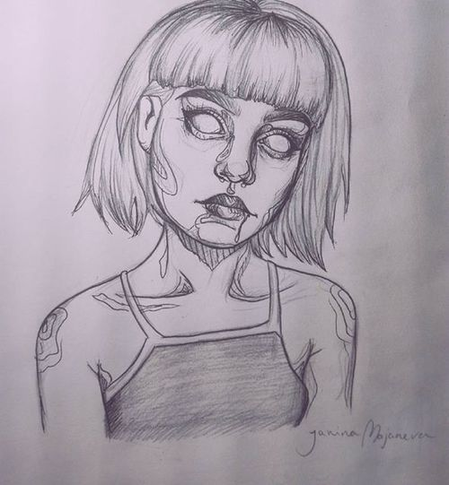 500x541 Collection Of Scary Drawing Tumblr High Quality, Free