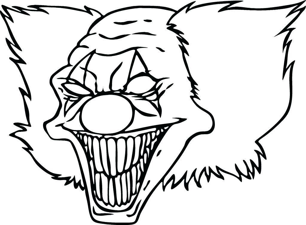 1024x751 Cool Clown Drawings Best Scary Clown Drawing Ideas On Clown