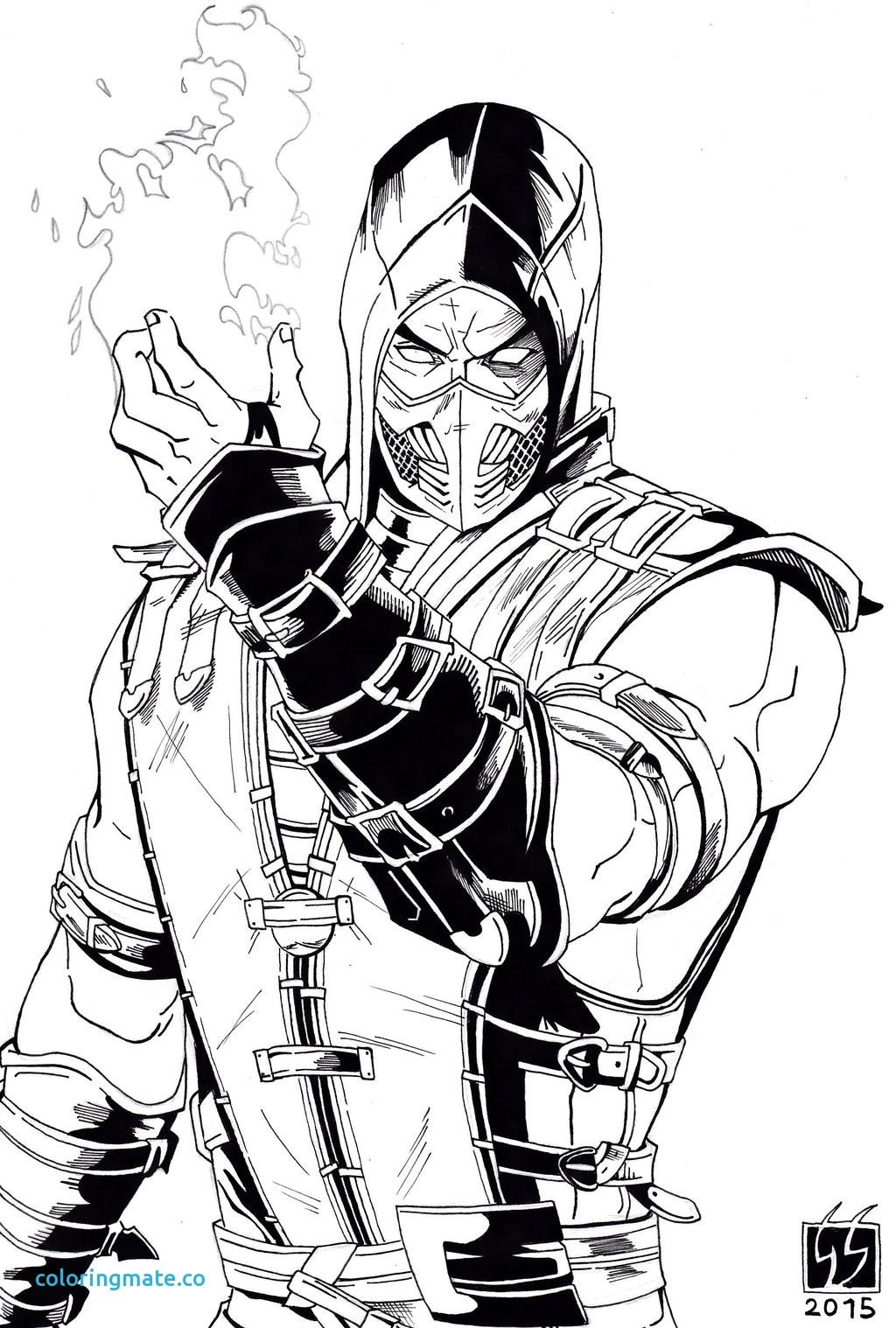Scorpion Mortal Kombat Drawing At Getdrawings Com Free For