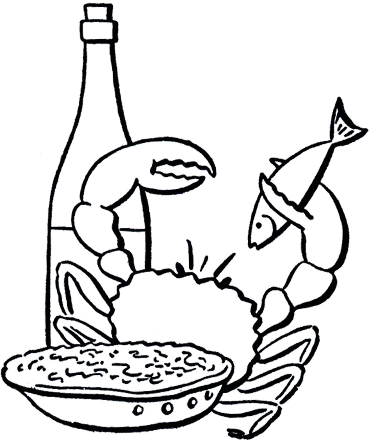 Seafood Drawing