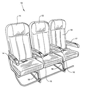 291x300 Drawing Of Airplane Seat Southwest Passenger Seat And Armrest