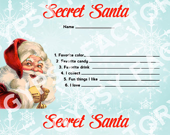 340x270 Secret Santa Gift Exchange Template Secret Santa Gifts
