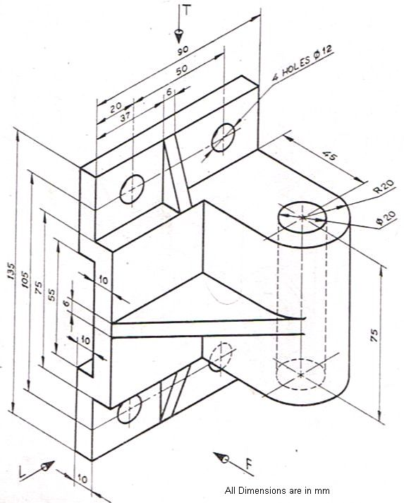 Sectional View Engineering Drawing Exercises