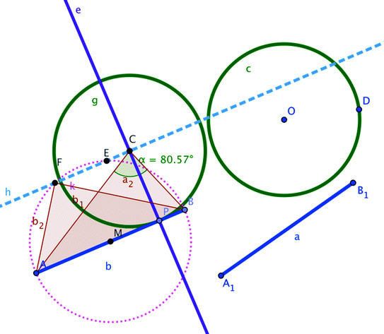 543x473 Drawing Segment Ab Tangent To The Given Circle Download