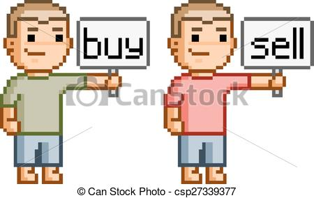 450x284 Pixel Art Buy And Sell. Vector Pixel Art Buy And Sell For Design.