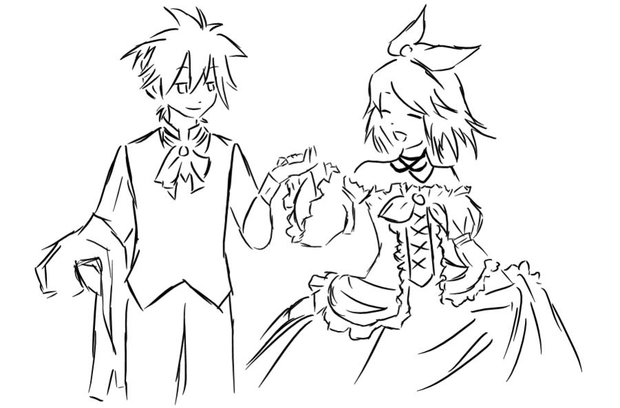 900x593 Servant Of Evil Rin And Len By Shironekochandesu