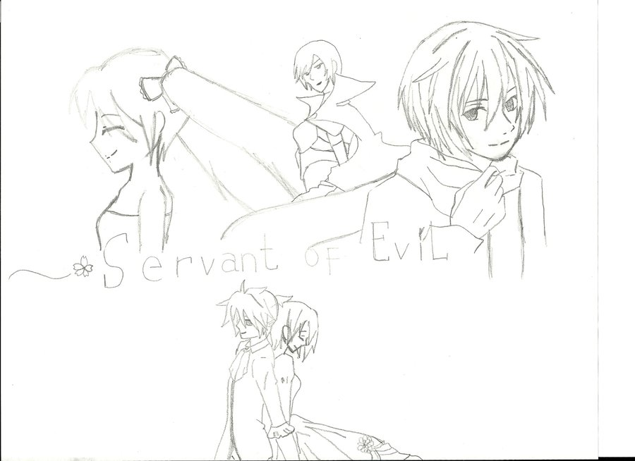 900x654 My Drawing Of Servant Of Evil Poster By Mizukisnow