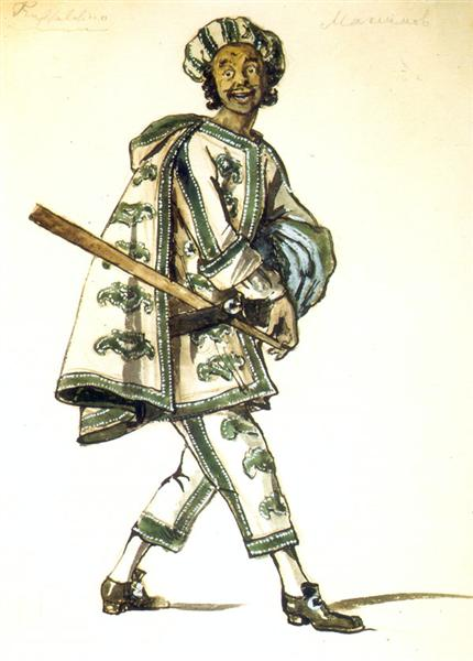 430x600 Truffaldino. Costume Design For Goldoni's Comedy Servant Of Two
