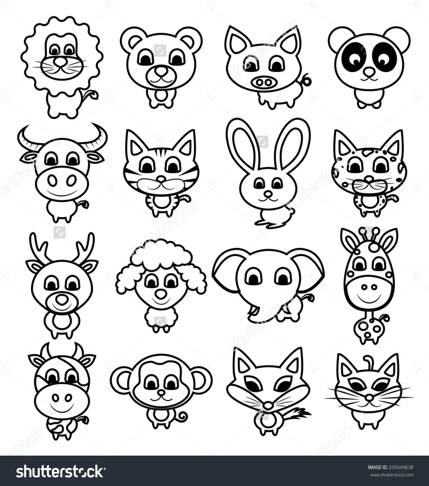 1413x1600 Cute Animal Drawing Ideas Baby Animal Drawings And Cartoons Cute
