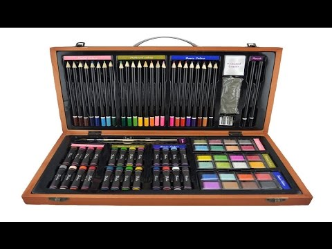 480x360 Strokes Art Beginners Deluxe Art Set 80 Piece Great Gift